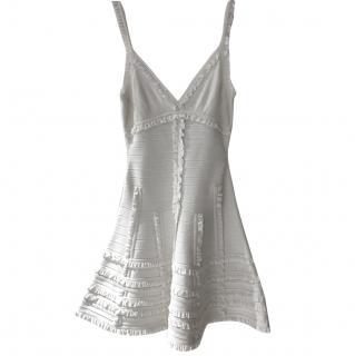 Herve Leger White Evening Dress