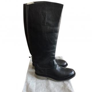 Bikkembergs Black Leather Boots
