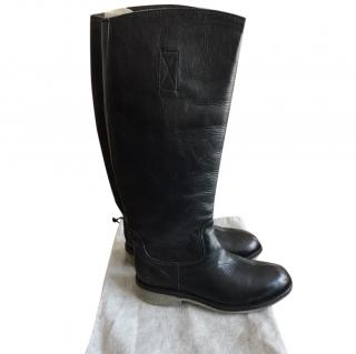 Bikkembergs Black Leather Boots