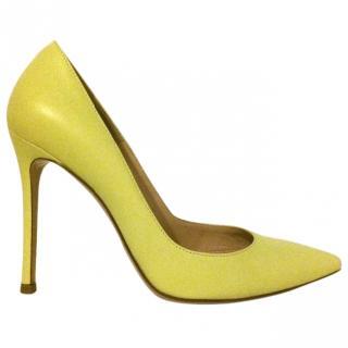 Gianvito Rossi Lemon Leather Court Shoes (Gianvito 105)