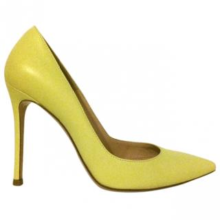 Gianvito Rossi Lemon Leather Court Shoes (Gianvito 105)