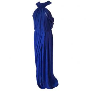 Tom Ford electric blue full length dress gown