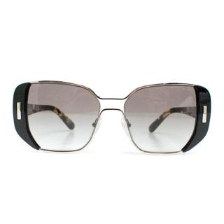 Prada Black and Tortoise Shell Square Lens Sunglasses