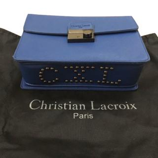 Christian Lacroix Incarnation Blue Cross Body Bag