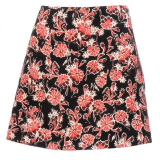Marni Floral Print Cotton-Silk Blend Mini Skirt