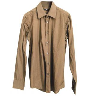 Hugo Boss Khaki Men's Shirt