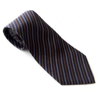 YSL Navy stripy silk tie