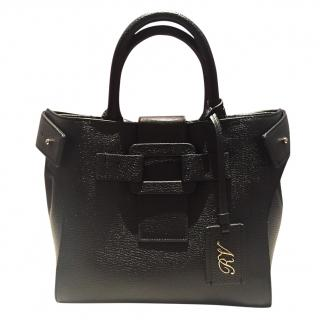 Roger Vivier Small Black Pilgrim bag