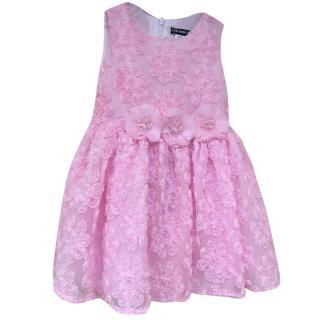 David Charles girls pink rose dress age 2