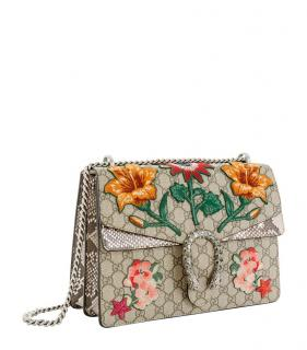 Gucci Dionysus supreme flower embroidered bag
