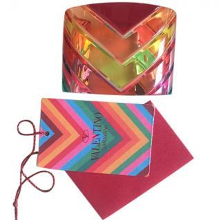 Valentino multicolour 1973 plexiglass cuff bracelet