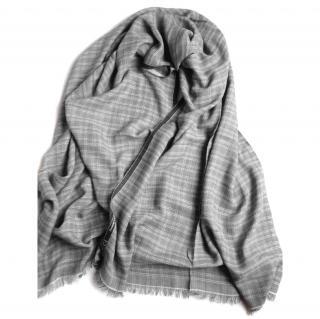 Gucci men's cotton and silk scarf
