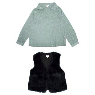 C de C and Zef Girl's Top and Gilet Set