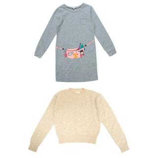 Little Marc Jacobs Dress and Bellerose Jumper Girl's Set