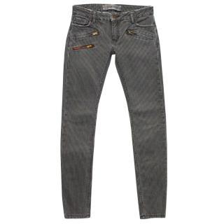 Etienne Marcel Grey Striped Skinny Jeans