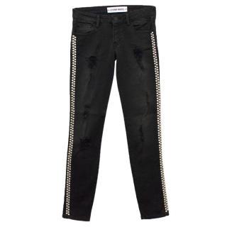 Etienne Marcel Black Studded Skinny Jeans
