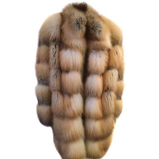 Escape Golden island fox fur coat