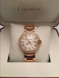Cartier Rose Gold & Diamond Ballon Watch