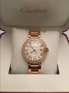 Cartier Rose Gold & Diamond Ballon Watch
