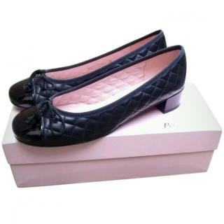 Pretty Ballerina Black Leather Shoes