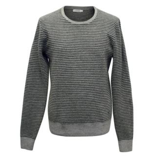 J. Lindeberg Grey Men's Striped Jumper