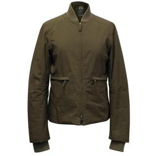 Prada Khaki Padded Bomber Jacket