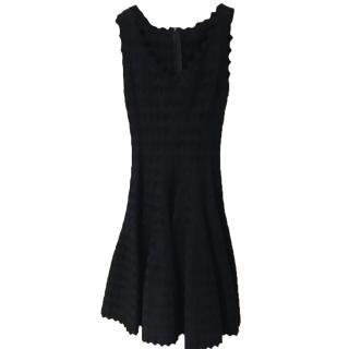 Alain black heart motif dress