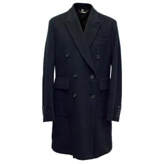 Hardy Amies Navy Cashmere Overcoat