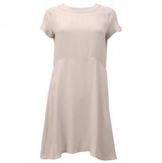 Celine Silk Crepe Short Sleeved Dress