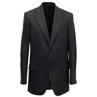 Burberry Dark Grey Wool Blend Blazer