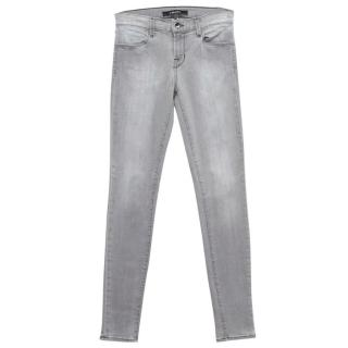 J Brand Light Grey Skinny Jeans