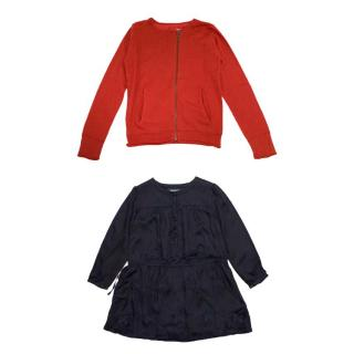 Zadig & Voltaire Girl's Cardigan and Dress Set