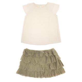 Swildens Girl's Top and Skirt Set