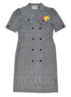 AQUASCUTUM  Wool check dress