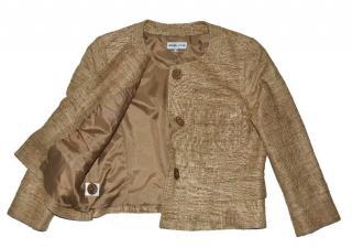 Gerard Darel Brown Silk Jacket