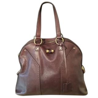 Yves Saint Laurent brown Muse leather bag