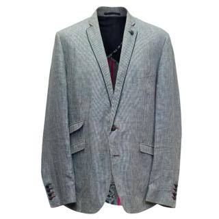 Holland Esquire Black and White Houndstooth Blazer