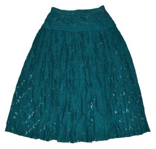 Kenzo Vintage Lace Flora Wool Skirt