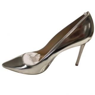 Jimmy Choo  New Romy 100 silver mirror leather