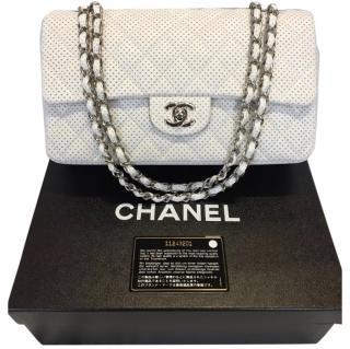 Chanel 10'' lambskin single flap bag