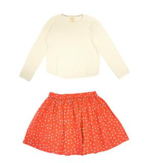 Bellerose and Bonpoint Girl's Jumper and Skirt Set