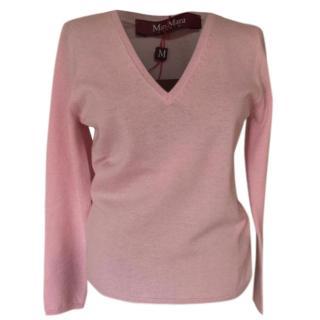 MaxMara thin knit v-neck jumper, 100% virgin wool