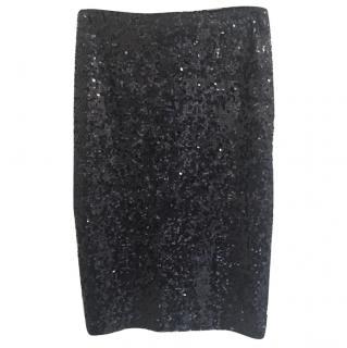 By Malene Birger Black Sequin Skirt