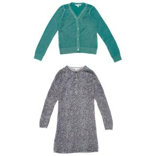 Bonpoint Girl's Cardigan and Dress Set