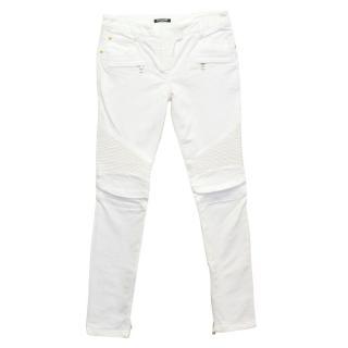 Balmain Cream Skinny Jeans