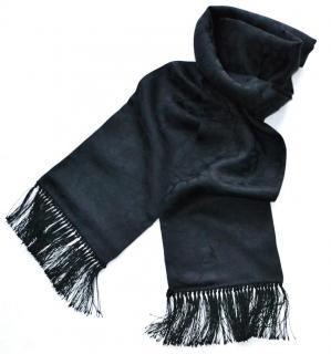 Saint Laurent black silk-cashmere scarf
