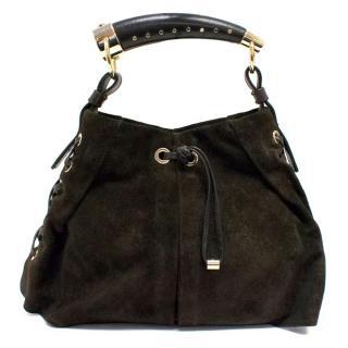 Yves Saint Laurent Dark Brown Suede Bag