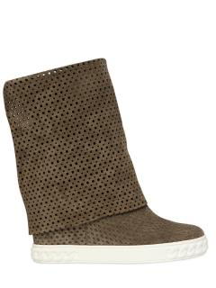 Casadei 90 mm perforated wedge boots