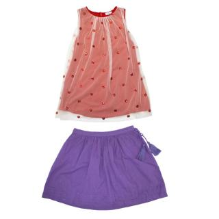 C de C Girl's Dress and Skirt Set