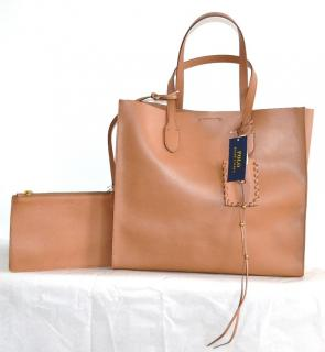 POLO Ralph Lauren brown leather tote bag